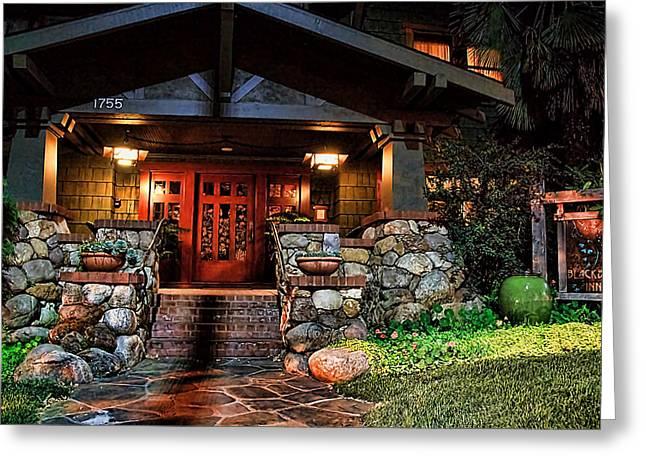 Randy Digital Art Greeting Cards - Blackbird Inn Greeting Card by Randy Wehner Photography