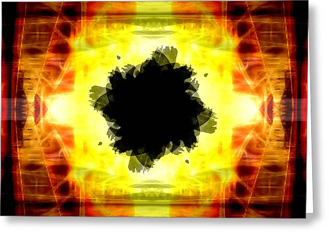 Geometric Style Greeting Cards - Blackhole Greeting Card by Andrea Barbieri