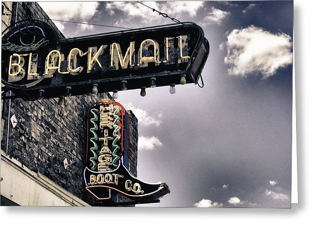 Texas Boots Greeting Cards - Blackmail  Greeting Card by Mauricio Jimenez