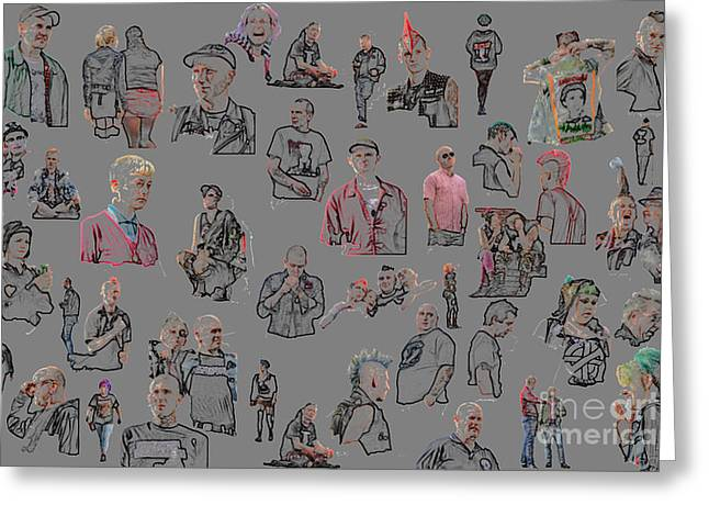 Blackpool Punks 2011 Greeting Card by Dominique De Leeuw