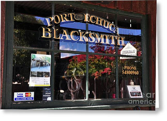 Blacksmith Shop Greeting Card by Kaye Menner