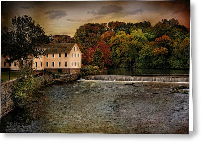 Old Mills Photographs Greeting Cards - Blackstone River Mill Greeting Card by Robin-lee Vieira
