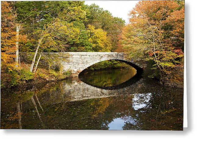 Blackstone Valley River Bridge Greeting Card by Jenna Szerlag