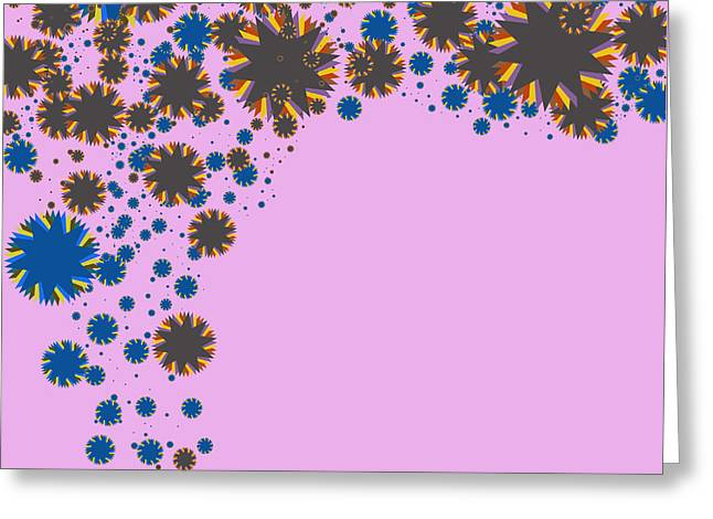 Cooperation Digital Art Greeting Cards - Blades On Purple Greeting Card by Atiketta Sangasaeng