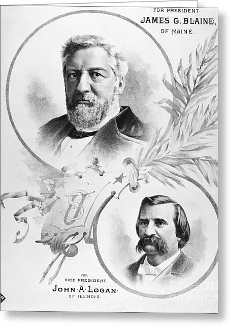 Blaine: Election Of 1884 Greeting Card by Granger