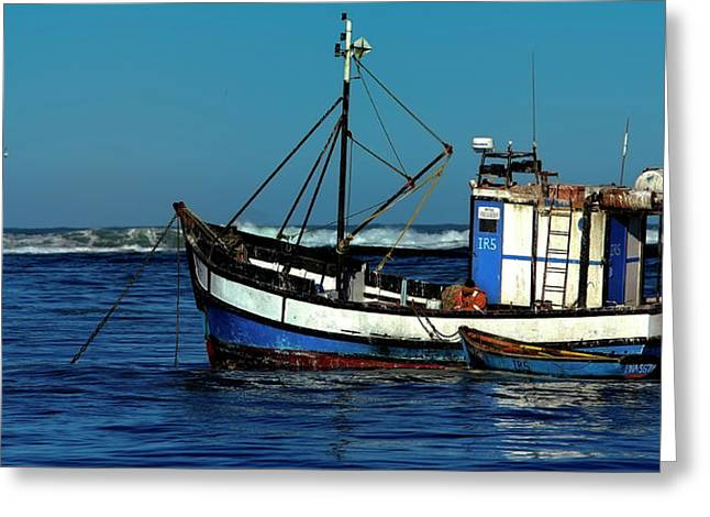 D700 Greeting Cards - BlaineC. Fishermans Boat. Greeting Card by Jaco Kriek