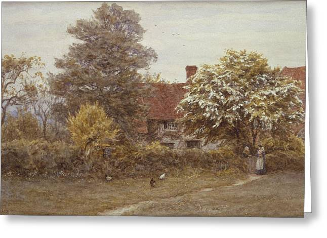 William Blake Greeting Cards - Blakes House Hampstead Heath Greeting Card by Helen Allingham