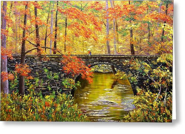Arkansas Paintings Greeting Cards - Blanchard Springs Arkansas Greeting Card by Connie Tom