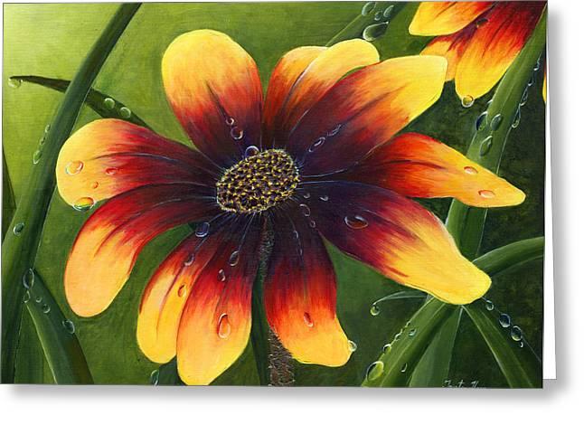Trister Hosang Greeting Cards - Blanket Flower Greeting Card by Trister Hosang