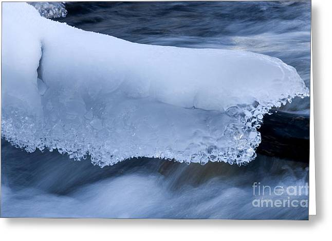 Alberta Landscape Greeting Cards - Blanket Of Ice Greeting Card by Bob Christopher