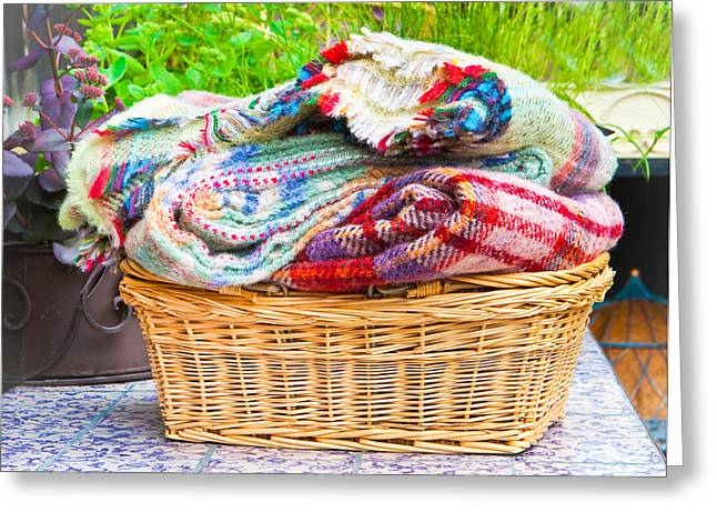 Wooly Greeting Cards - Blankets Greeting Card by Tom Gowanlock
