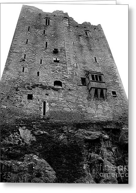 Blarney Foundation In Bw Greeting Card by RL Rucker