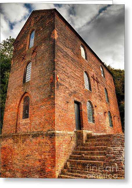 Foundry Greeting Cards - Blast Furnaces 1830s Greeting Card by Adrian Evans