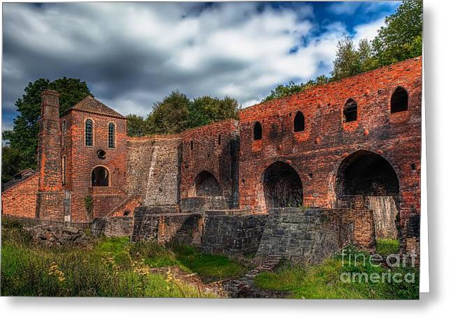 Foundry Greeting Cards - Blast Furnaces Greeting Card by Adrian Evans