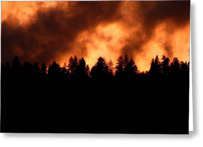 Striking Images Greeting Cards - Blazing Mountaintop Greeting Card by Will Borden