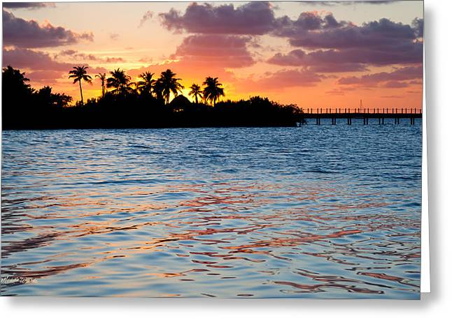 Michelle Greeting Cards - Blazing Skies in Islamorada Greeting Card by Michelle Wiarda