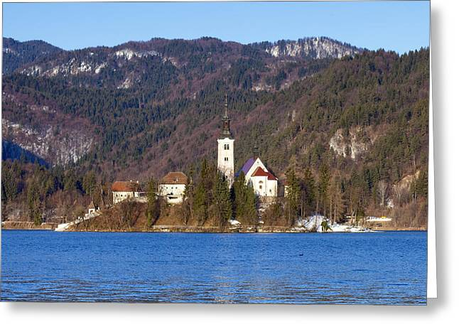 Bled Greeting Cards - Bled Lake in Slovenia Greeting Card by Andre Goncalves