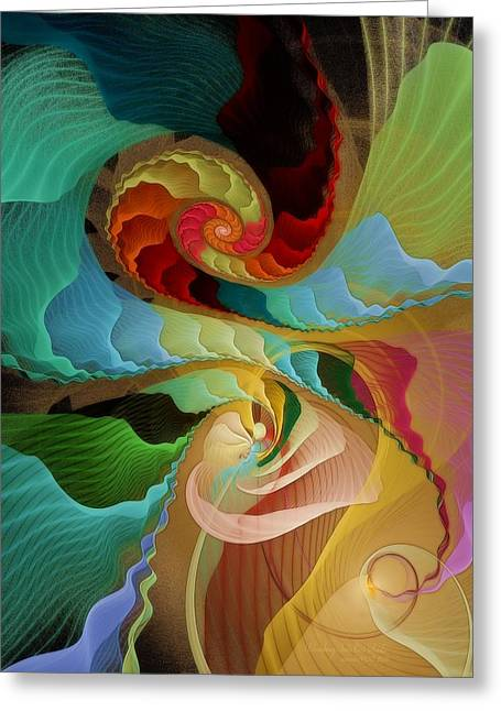Graphic Digital Art Pastels Greeting Cards - Blending into Our Souls Greeting Card by Gayle Odsather