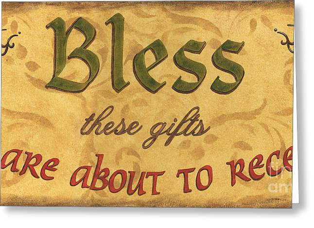 Inspirational Prayers Greeting Cards - Bless These Gifts Greeting Card by Debbie DeWitt