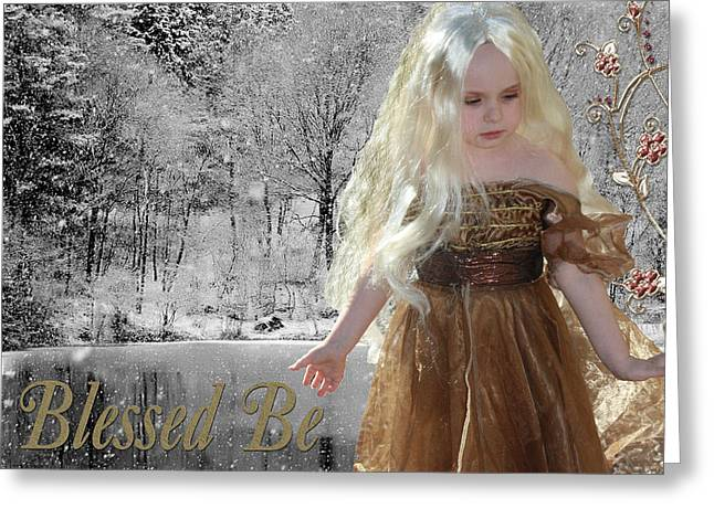 Chelsy Greeting Cards - Blessed Be Greeting Card by ChelsyLotze International Studio