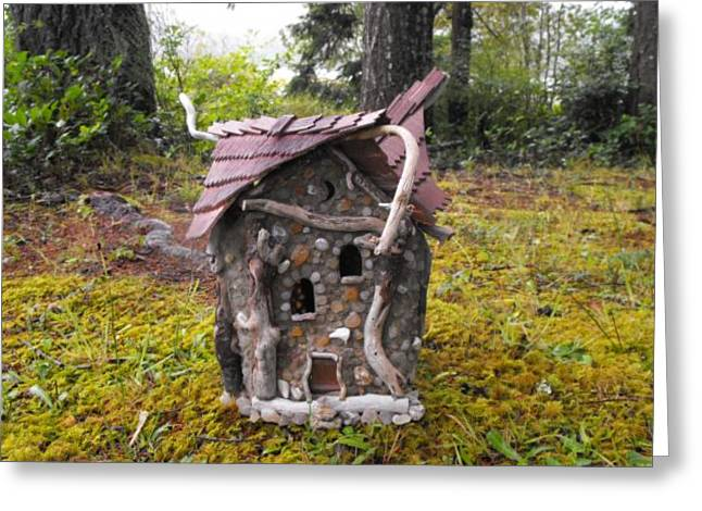 Fantasy Sculptures Greeting Cards - Blessed Home Greeting Card by ANGELine CROWder