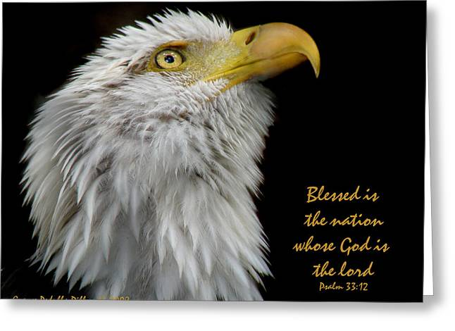 Psalm 33:12 Greeting Cards - Blessed is the Nation Greeting Card by Grace Dillon