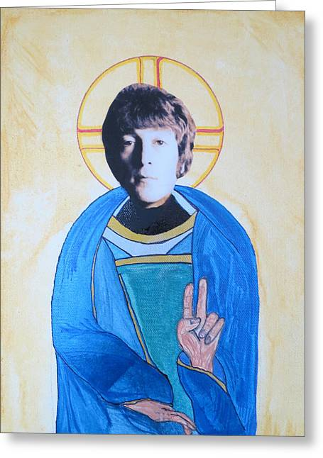 Blessed John Greeting Card by Philip Atkinson
