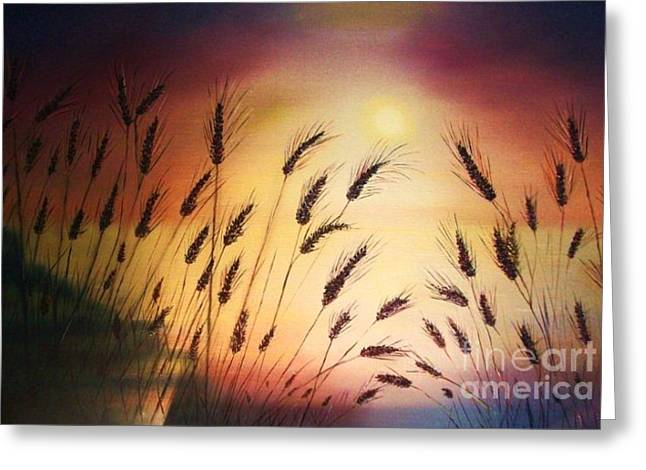 Gloaming Paintings Greeting Cards - Blessed Seeds Collection Greeting Card by E Luiza Picciano