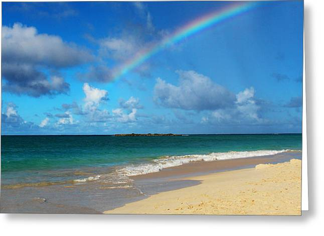 Blessed With A Rainbow Greeting Card by Kerri Ligatich