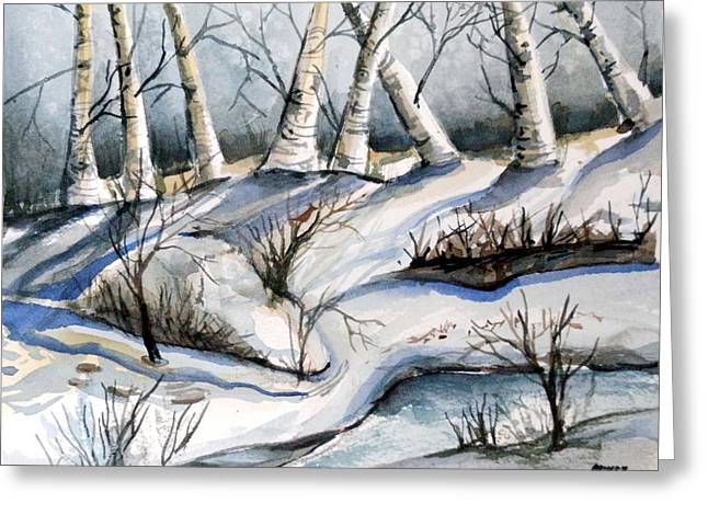Brook Drawings Greeting Cards - Blessedness Greeting Card by Mindy Newman