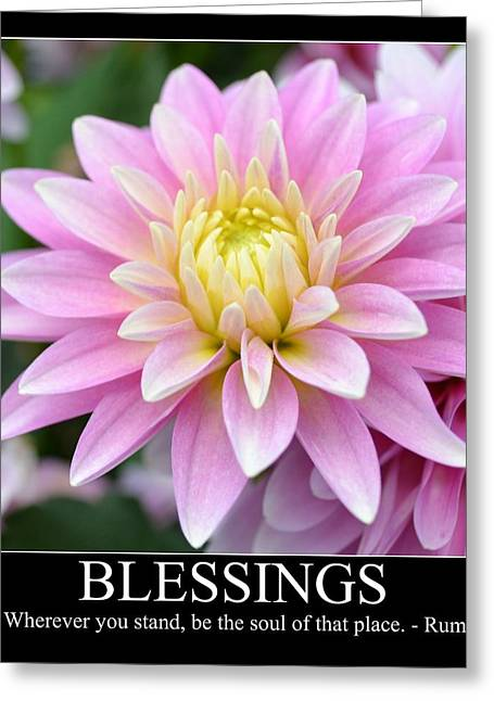 Souls Greeting Cards - Blessings Dahlia Greeting Card by Patricia S