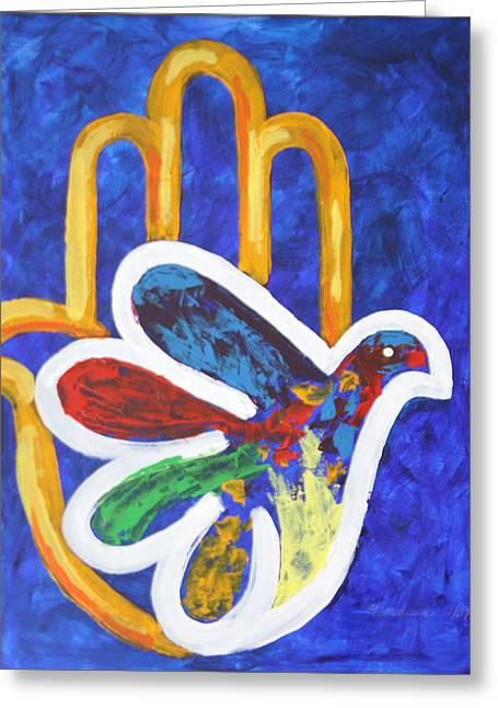 Mordecai Colodner Greeting Cards - Blessings Of Peace Greeting Card by Mordecai Colodner