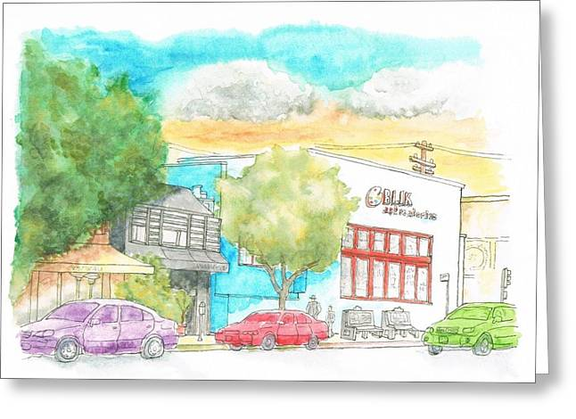 Paisajes Greeting Cards - Blick Art Material - Los Angeles - California Greeting Card by Carlos G Groppa