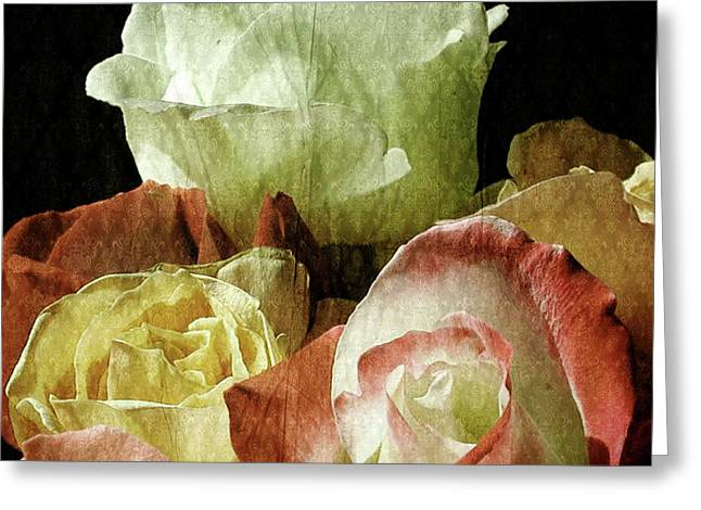 Rose Petals Mixed Media Greeting Cards - Bliss Greeting Card by Bonnie Bruno