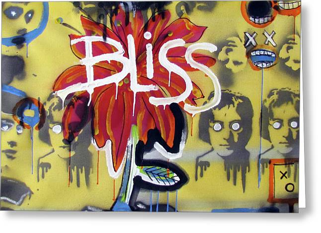 Raw Art Greeting Cards - Bliss Is The Word Greeting Card by Robert Wolverton Jr