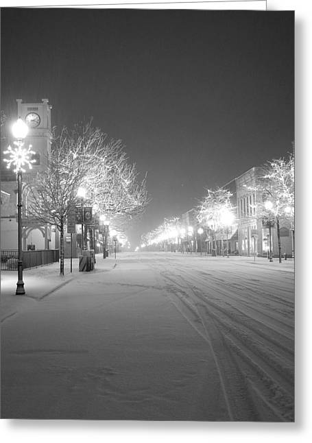 Sturgeon Bay Greeting Cards - Blizzard On 3rd Greeting Card by Jeremy Evensen