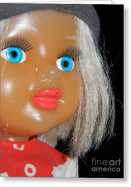 Doll Greeting Cards - Blonde Greeting Card by Anita V Bauer