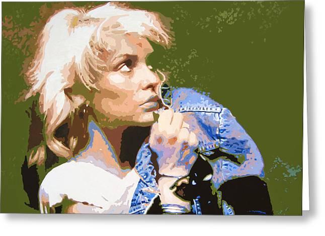 Disco Greeting Cards - Blondie - Debbie Harry Greeting Card by David Lloyd Glover
