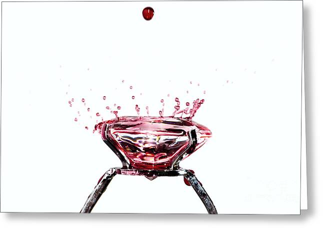 Jewellery Greeting Cards - Blood diamond Greeting Card by Mats Silvan