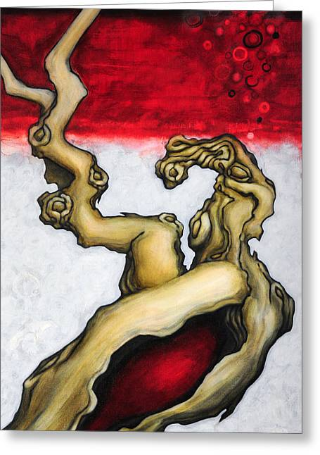 Viticulture Paintings Greeting Cards - Blood of Eden Greeting Card by Angela Kallsen