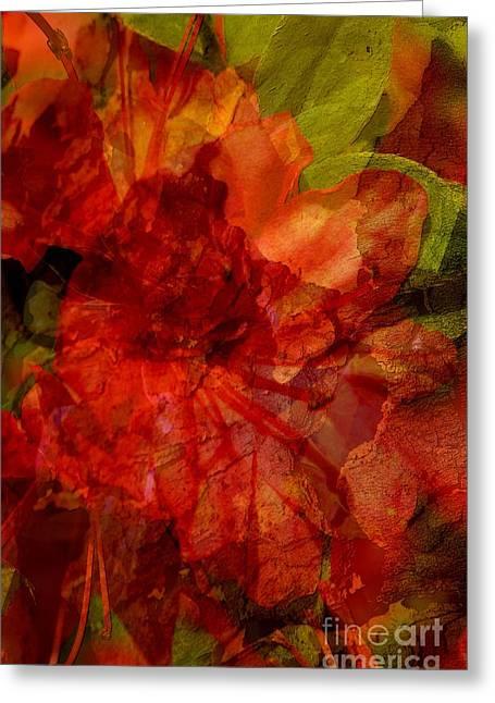 Floral Digital Art Greeting Cards - Blood Rose Greeting Card by Tom Romeo