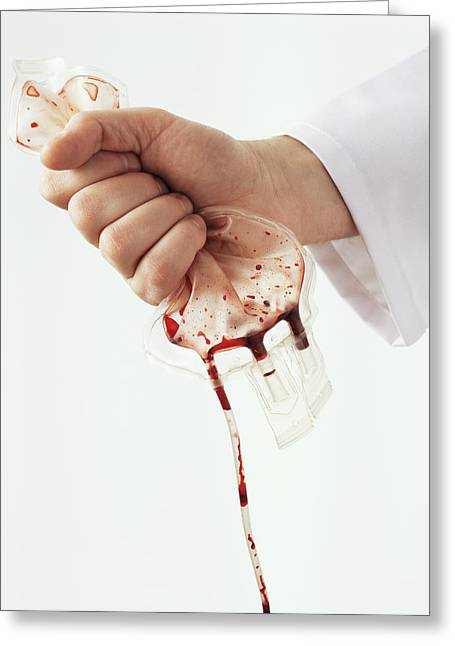 Money Problems Greeting Cards - Blood Transfusion, Conceptual Image Greeting Card by Kevin Curtis