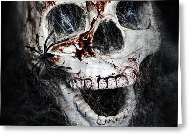 bloody skull Greeting Card by Joana Kruse