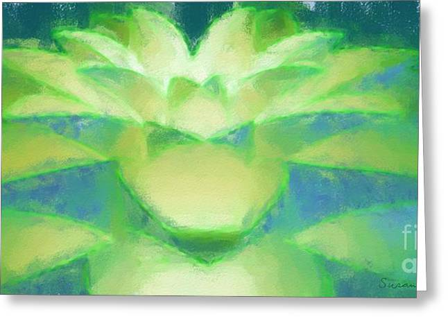 Illuminate Pastels Greeting Cards - Bloom Luminata Greeting Card by Susan Fisher