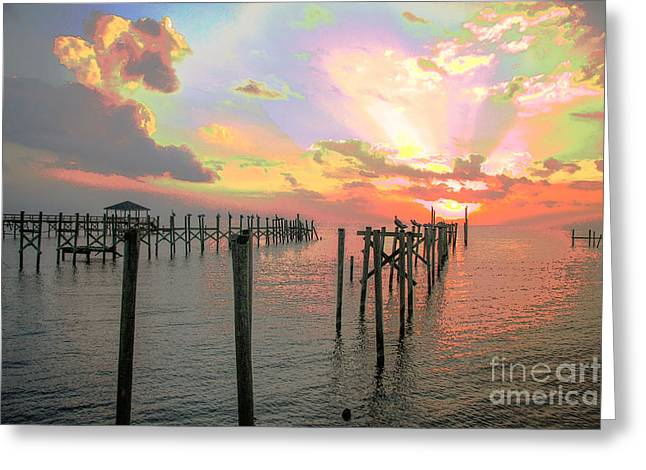 Fb Greeting Cards - Blooming Sunset Greeting Card by Luana K Perez
