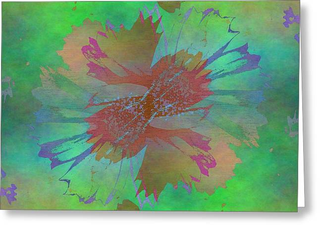 Gimp Greeting Cards - Blooms In The Mist Greeting Card by Tim Allen
