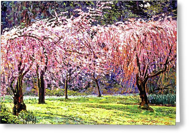 Most Viewed Paintings Greeting Cards - Blossom Fantasy Greeting Card by David Lloyd Glover