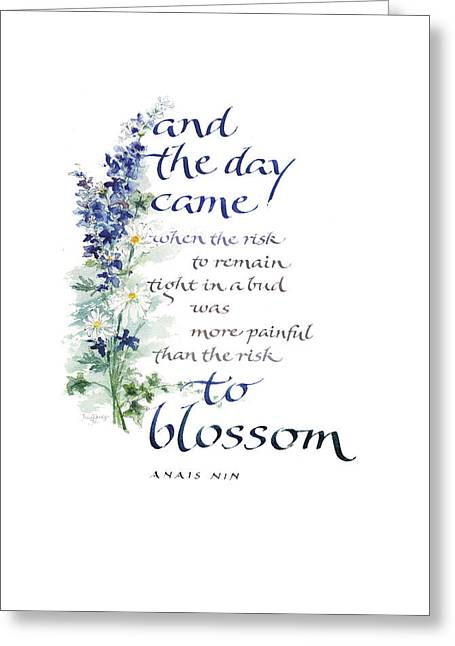 Uplifted Greeting Cards - Blossom I Greeting Card by Judy Dodds
