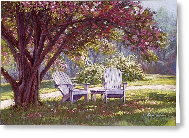 Shade Pastels Greeting Cards - Blossom Shower Greeting Card by L Diane Johnson