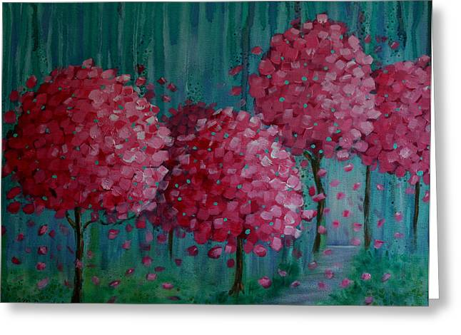 Blossoms Greeting Card by Melodie Douglas